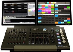 CONSOLE LUMIERE NEO et WING PLAYBACK / WING SUBS STRAND LIGHTING
