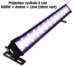 BARRE CYCLIODE LED 340w CYCLOKOLOR 1230HDL RGBW / AMBRE / LIME